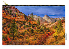 Carry-all Pouch featuring the photograph Autumn Arroyo by Greg Norrell
