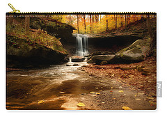 Autumn At Blue Hen Falls Carry-all Pouch by Rob Blair