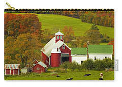 Autumn At Bogie Mountain Dairy Farm Carry-all Pouch by John Vose