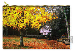 Carry-all Pouch featuring the photograph Autumn At Old Mill by Rodney Lee Williams