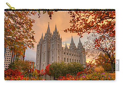Autumn At Temple Square Carry-all Pouch by Dustin  LeFevre