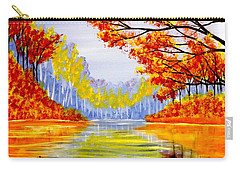 Autumn At The Lake Carry-all Pouch by Darren Robinson