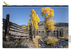 Carry-all Pouch featuring the photograph Autumn At The Lamar Buffalo Ranch by Jack Bell