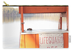 Autumn At White Lake Carry-all Pouch by Barbara Bardzik