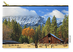Autumn Barn At Thompson Peak Carry-all Pouch by James Eddy