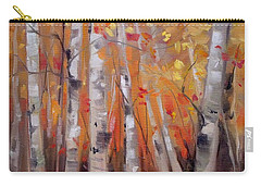 Autumn Birch Carry-all Pouch by Mary Hubley