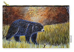 Autumn Black Bear Carry-all Pouch by Kenny Francis