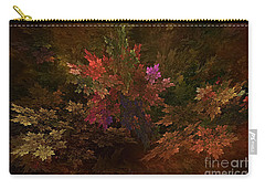Carry-all Pouch featuring the digital art Autumn Bouquet by Olga Hamilton