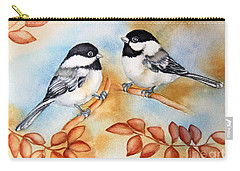 Autumn Chickadees Carry-all Pouch