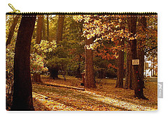 Autumn Country Lane Evening Carry-all Pouch by Michele Myers