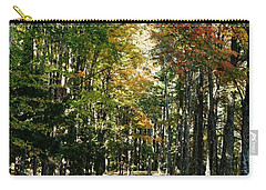Autumn Drive Carry-all Pouch by Barbara Bardzik