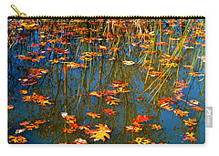Carry-all Pouch featuring the photograph Autumn  Floating by Peggy Franz
