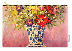 Autumn Flowers Carry-all Pouch by Ana Maria Edulescu