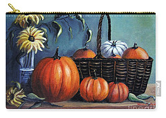 Carry-all Pouch featuring the painting Autumn Gifts by Vesna Martinjak