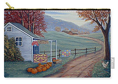 Carry-all Pouch featuring the painting Autumn Harvest by Fran Brooks