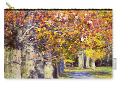 Autumn In Hyde Park Carry-all Pouch by Joan Carroll