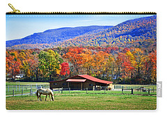 Autumn In Rural Virginia  Carry-all Pouch by Lynn Bauer