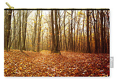 Autumn In The Forest With Red And Yellow Leaves Carry-all Pouch by Vlad Baciu