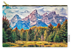 Autumn In The Tetons Carry-all Pouch by Dominic Piperata