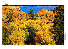 Carry-all Pouch featuring the photograph Autumn In Zion by Greg Norrell