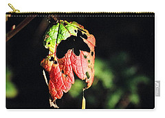 Carry-all Pouch featuring the photograph Autumn Leaf by Cathy Mahnke