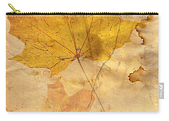 Autumn Leaf In Grunge Style Carry-all Pouch
