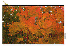 Carry-all Pouch featuring the photograph Autumn Leaves by Kathy Bassett