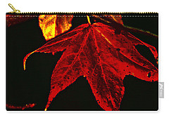 Carry-all Pouch featuring the photograph Autumn Leaves by Lesa Fine