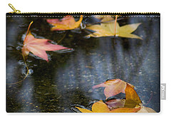 Autumn Leaves On Water Carry-all Pouch