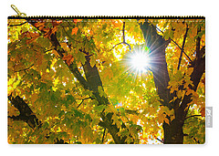 Carry-all Pouch featuring the photograph Autumn Morn by Dee Dee  Whittle