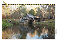 Carry-all Pouch featuring the photograph Autumn Morning At Mabry Mill by Carol Lynn Coronios