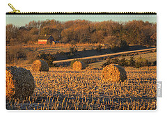 Autumn Morning Bales Carry-all Pouch