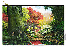 Autumn Morning In The Forest Carry-all Pouch