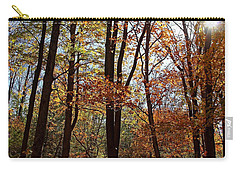 Carry-all Pouch featuring the photograph Autumn Picnic by Debbie Oppermann