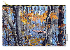 Autumn Reflection With Leaf Carry-all Pouch