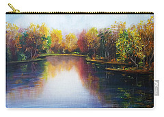 Carry-all Pouch featuring the painting Autumn Reflections  by Vesna Martinjak