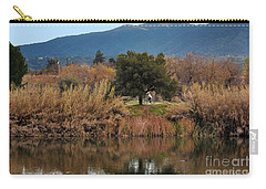 Carry-all Pouch featuring the photograph Autumn Rider by Susan Wiedmann