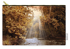 Carry-all Pouch featuring the photograph Autumn River Light by Jessica Jenney