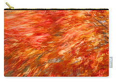 Carry-all Pouch featuring the photograph Autumn River Of Flame by Jeff Folger