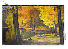 Autumn Silence  Carry-all Pouch by Sorin Apostolescu