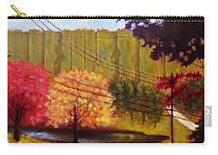 Carry-all Pouch featuring the painting Autumn Slopes by Jason Williamson