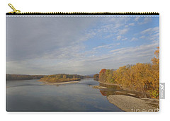 Carry-all Pouch featuring the photograph Autumn Sun At The River by Christina Verdgeline