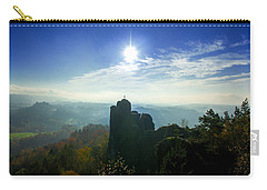Autumn Sunrise In The Elbe Sandstone Mountains Carry-all Pouch