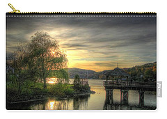 Carry-all Pouch featuring the photograph Autumn Sunset by Nicola Nobile
