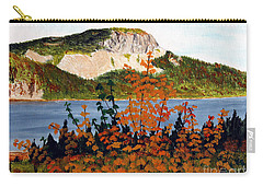 Autumn Sunset On The Hills Carry-all Pouch by Barbara Griffin
