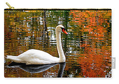 Autumn Swan Carry-all Pouch by Lourry Legarde