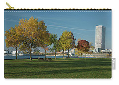 Autumn Trees Carry-all Pouch by Jonah  Anderson