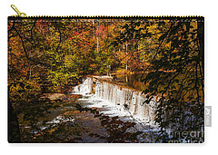 Autumn Trees On Duck River Carry-all Pouch