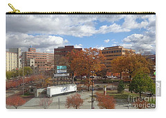 Carry-all Pouch featuring the photograph Autumn View - Public Square by Christina Verdgeline