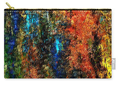 Carry-all Pouch featuring the digital art Autumn Visions Remembered by David Lane